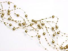 Perličky na silonu-bal. 5ks-zlaté