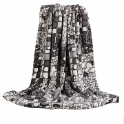 Luxusní deka z mikrovlákna šedé kameny 160x200cm vzor 67-2 skladem