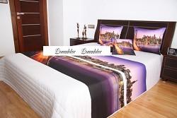 """Přehoz na postel """"3D""""-220x240cm- 40I-bílý podklad"""