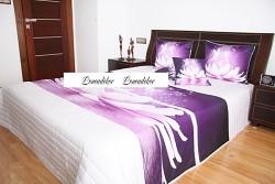"Přehoz na postel ""3D""-220x240cm- 40K-bílý podklad"