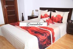 """""""3D"""" Přehoz na postel 40Z -220x240cm-krémový podklad"""