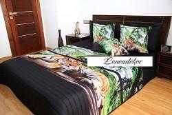 """3D"" Přehoz na postel 41B -220x240cm-černý podklad"