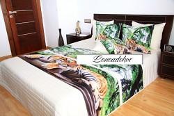 """""""3D"""" Přehoz na postel 41D -220x240cm-krémový podklad"""