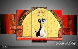 Obraz jako malovaný 5D kočky R000468R