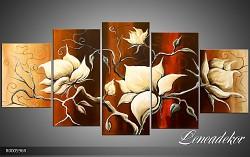 Obraz jako malovaný 5D Květy R000596R