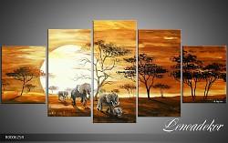 Obraz jako malovaný 5D Afrika R000625R