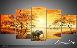Obraz jako malovaný 5D Sloni R000672R