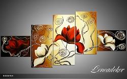 Obraz jako malovaný 5D Květy R000696R