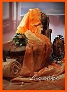 Přehoz na sedací soupravu akrylový vzor hladký 1 oranžový