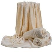 Přehoz na sedací soupravu vzor 9 ivory(sv.máslový)vytlačený vzor -3dílný- skladem