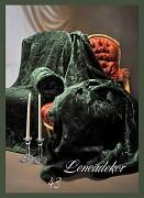 Přehoz na sedací soupravu-3dílný- vzor 43 zelený lahvový