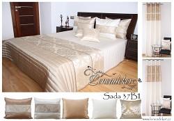 Přehoz na postel světle béžový 200x220cm-37B1