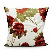 Moderní polštář Červené květy-Leneadekor