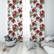 Moderní závěs Červené květy 140/250cm-Leneadekor