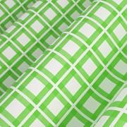 Závěs  bílý se zeleným kárem