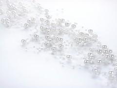 Perličky na silonu-bal. 5ks-bílé