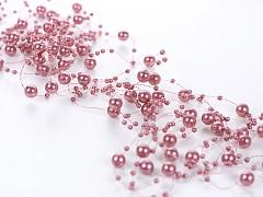 Perličky na silonu-bal. 5ks-starorůžové