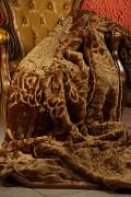 Luxusní deka akrylová-200x240cm-vzor 10 karamelová