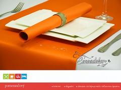 Běhoun na stůl- s teflonovou úpravou-BP06 pomerančový