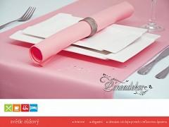 Běhoun na stůl- s teflonovou úpravou-BP10 světle růžový