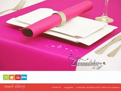 Běhoun na stůl- s teflonovou úpravou-BP11 tmavě růžový