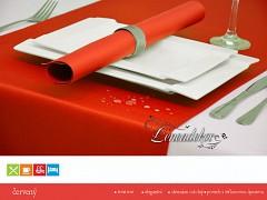 Běhoun na stůl- s teflonovou úpravou-BP12 červený