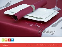 Běhoun na stůl- s teflonovou úpravou-BP13 bordó