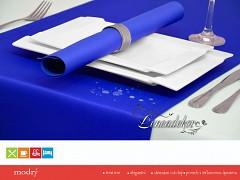 Běhoun na stůl- s teflonovou úpravou-BP15 modrý