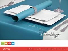 Běhoun na stůl- s teflonovou úpravou- BP17 tyrkysový- 40x110cm
