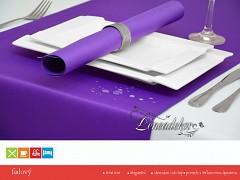 Běhoun na stůl- s teflonovou úpravou-BP18 fialový