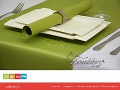 Běhoun na stůl- s teflonovou úpravou-BP22 olivový