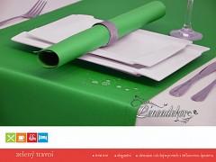 Běhoun na stůl- s teflonovou úpravou-BP25 zelený travní