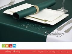 Běhoun na stůl- s teflonovou úpravou-BP26 zelený lahvový- 40x110cm