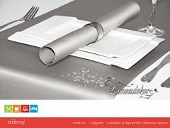 Běhoun na stůl- s teflonovou úpravou-BP31 stříbrný- 40x110cm