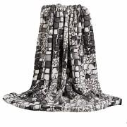 Luxusní deka z mikrovlákna šedé kameny 160x200cm vzor 67-2 -skladem