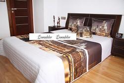 """Přehoz na postel """"3D""""-220x240cm- 40B-bílý podklad"""
