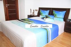 """Přehoz na postel """"3D""""-220x240cm- 40C-bílý podklad"""