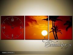 Obraz jako hodiny OJhF000513xl 90x30cm