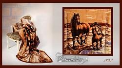 Deka španělská kůň hnědá 160x210cm vzor 730-2