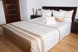 Přehoz na postel krémovo kakaový 33D