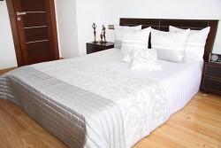 Přehoz na postel 36h bílo-šedý