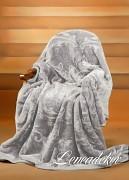 Luxusní deka akrylová stříbrná