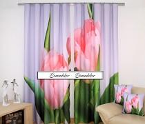 Moderní závěs 3D ZR53 set 2ks tulipány