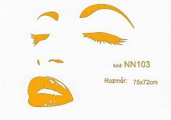 Samolepka na zeď NN103 velikost 75x72cm oranžová-skladem