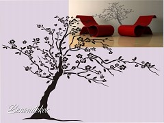 Šablona na malování strom S-Tree 01  200x140cm-skladem