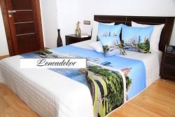 """Přehoz na postel """"3D"""" 40M-220x240cm-bílý podklad"""