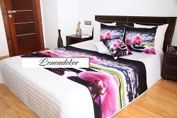 """Přehoz na postel """"3D"""" 40N -220x240cm-bílý podklad"""