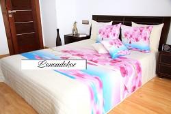 """Přehoz na postel """"3D"""" 40P -220x240cm-bílý podklad"""