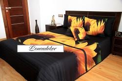 """""""3D"""" Přehoz na postel 40U -220x240cm-černý podklad"""