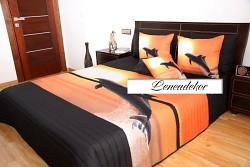 """3D"" Přehoz na postel 41C -220x240cm-černý podklad"